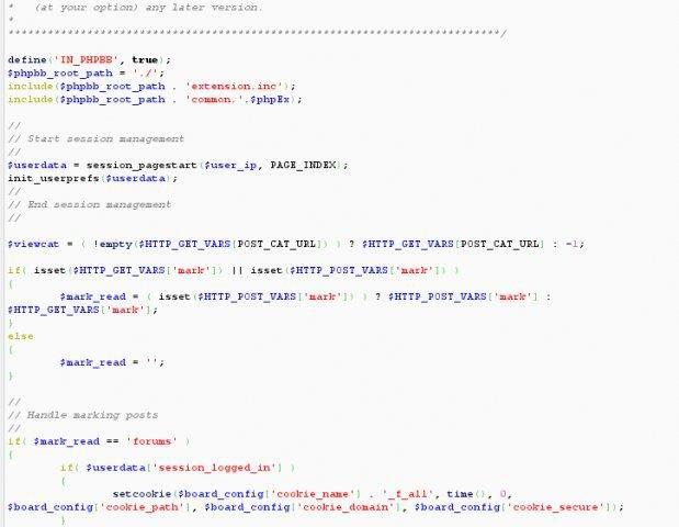 Copie d'écran du script GeSHi - Générateur syntaxique Highlighter