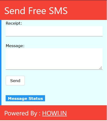 Copie d'écran du script Envoyer des SMS sur mobile